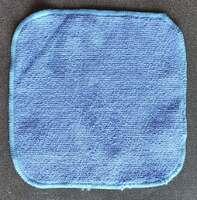 Микрофибровое полотенце голубое 20х20 см