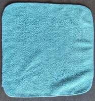 Микрофибровое полотенце голубое 30х30 см